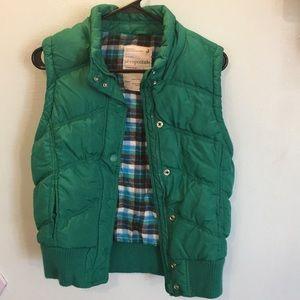 Aeropostale green puff vest